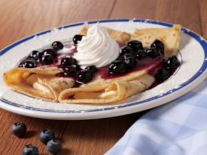 blueberries 'n' creme crepes make it a great morning!